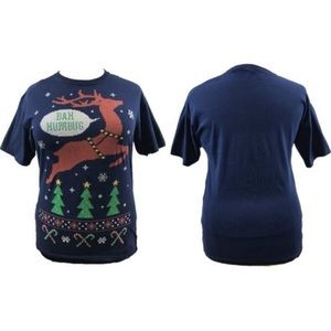 Men's Bah Humbug T-shirt XL Christmas Holiday